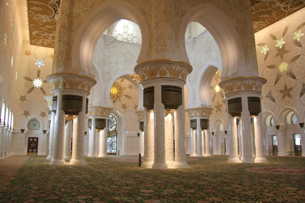Inside the mosque